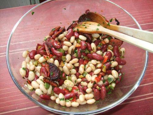 salade de haricots au chorizo